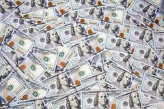 Nouveaux cent billets d'un dollar Photographie stock