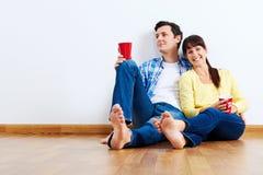 Nouveaux couples d'appartement photo libre de droits