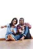 Nouveaux couples d'appartement photos libres de droits