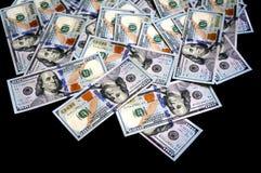 Nouveaux 100 dollars américains Photos stock