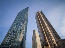 Nouveaux et vieux gratte-ciel à Toronto, Ontario, Canada Photographie stock