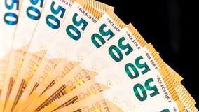 Nouveaux 50 euros comme fond Photos stock