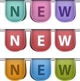 Nouveaux labels Photo libre de droits