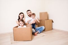 Nouveaux logements pour la famille Photographie stock libre de droits