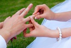Nouveaux mariés Images stock