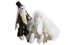 Nouveaux mariés de lapins Image libre de droits