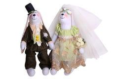 Nouveaux mariés de lapins Photos libres de droits