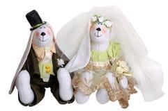 Nouveaux mariés de lapins Photo stock