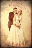 Nouveaux mariés heureux Image libre de droits