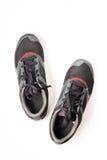 Nouveaux noir et rouge sans marque de couleur de chaussure de course Photographie stock libre de droits
