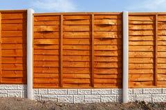 Nouveaux panneaux de barrière Photos stock