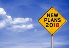 Nouveaux plans pour 2018 Image libre de droits