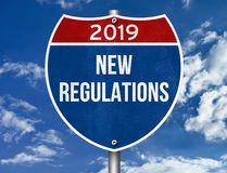 Nouveaux règlements illustration stock