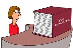 Nouveaux règlements illustration de vecteur