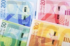 Nouveaux shekels israéliens, verso, un fond