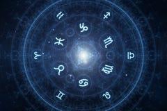 Nouveaux signes d'horoscope d'âge Photos stock
