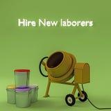 Nouveaux travailleurs de location Image libre de droits