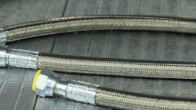 Nouveaux tuyaux tressés en métal tuyaux à haute pression Tuyau hydraulique en métal banque de vidéos