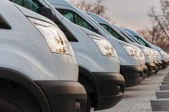 Nouveaux véhicules de transport de marchandises Images libres de droits