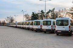 Nouveaux véhicules de transport de marchandises Photographie stock libre de droits