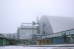 nouvel abri de réacteur à Chernobyl, Ukraine image stock