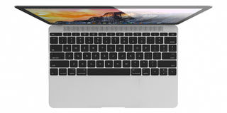Nouvel air argenté de MacBook Images stock