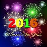 Nouvel 2016 ans heureux Photos libres de droits