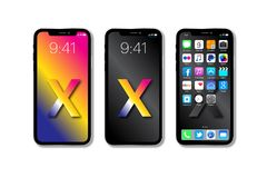 Nouvel Apple IPhone X Images libres de droits
