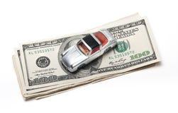 Nouvel argent de voiture Images libres de droits
