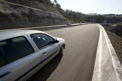 Nouvel asphalte sur la route Photographie stock