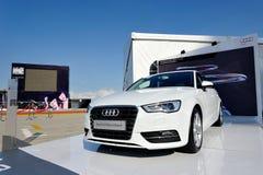 Nouvel Audi A3 Sportback sur l'affichage à l'événement de zone d'A3 Ttraktion Photo stock