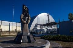 Nouvel emprisonnement sûr de monument et de Chernobyl photos stock
