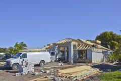 Nouvel en construction à la maison images libres de droits