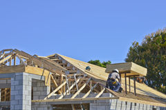 Nouvel en construction à la maison Photographie stock libre de droits