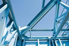 Nouvel encadrement à la maison de construction. image libre de droits