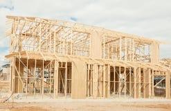 Nouvel encadrement à la maison de construction Photos libres de droits