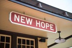 NOUVEL ESPOIR, PA - 11 AOÛT : La nouvelle voie ferrée d'espoir et d'Ivyland est une ligne de train d'héritage pour des visiteurs  photos libres de droits