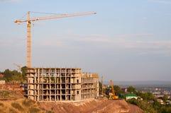 Nouvel hôtel à plusiers étages de construction Images libres de droits