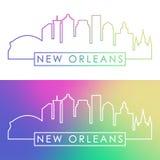 Nouvel horizon d'Orlean Style linéaire coloré illustration stock