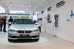 Nouvel hybride de BMW 330e à l'IAA 2015 Photos stock