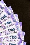 Nouvel Indien cent roupies de billets de banque image libre de droits