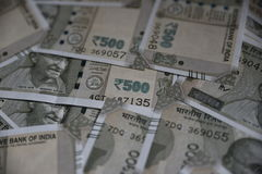 Nouvel Indien notes de devise de 500 roupies, fond entier Images stock