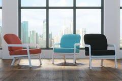 Nouvel intérieur avec des chaises illustration de vecteur