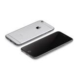 Nouvel iPhone 6 d'Apple arrière et Front Side Images libres de droits