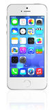 Nouvel iPhone 5s d'argent d'Apple Images stock