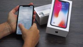 Nouvel iPhone X banque de vidéos