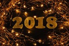 Nouvelle année 2018 Image libre de droits
