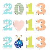Nouvelle année 2013 Photo libre de droits