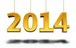 Nouvelle année 2014 Images libres de droits
