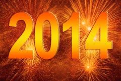 Nouvelle année 2014 Photo libre de droits